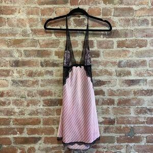 Victoria's Secret Slip Teddy Dress Lace Halter